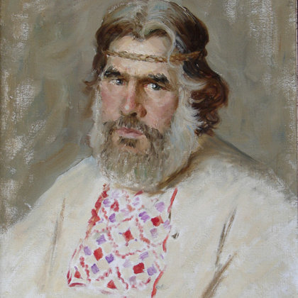 """Portrait of Fyodor"" 2000 Oil on canvas 60x50cm - Private collection, Russia"