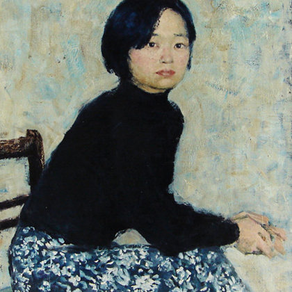 """Portrait of a Chinese Girl"" 2003 oil on canvas 80x60cm - Private collection, Germany"