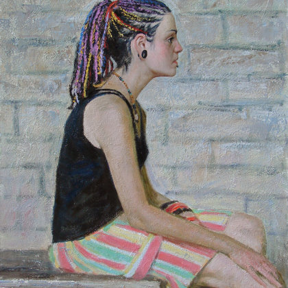 """Rita"" 2010 oil on canvas 70x60cm"