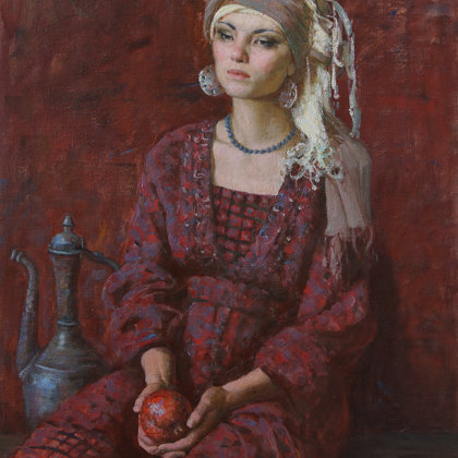 """Girl of the East"" 2015 oil on canvas 95x73cm - Private collection, Russia"