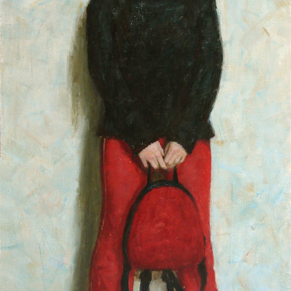 """Mila"" 2001 oil on canvas 132x84cm - Private collection, Russia"