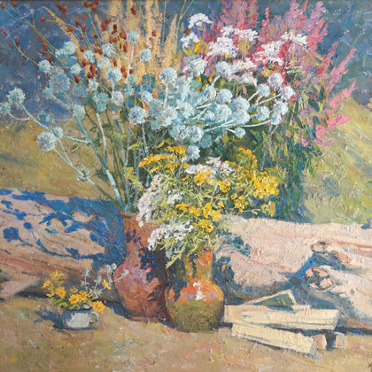 """Summer still life"" 2009 oil on canvas 74x84cm - Private collection, Russia"