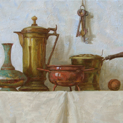 """Still Life. Brass"" 2010 oil on canvas 50x70sm - 1000$"
