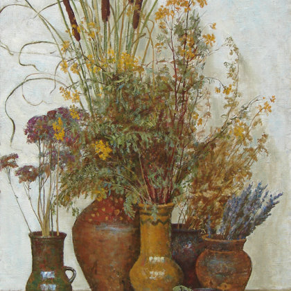 """Still Life with Jugs"" 2006 oil on canvas 120x85cm - Private collection, Russia"
