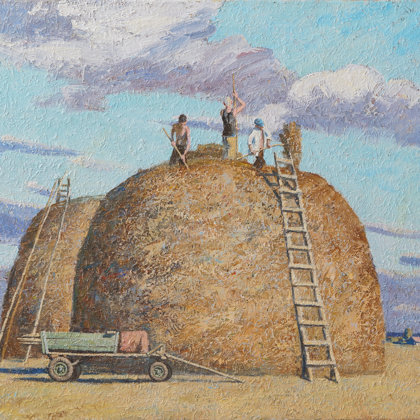"""Big stack"" 2011 oil on canvas 100x120cm - Private collection, Russia"