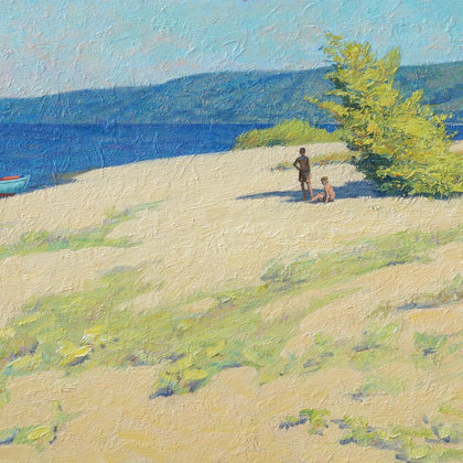 """Volga Summer"" 2012 oil on canvas 60x90cm - 750$"