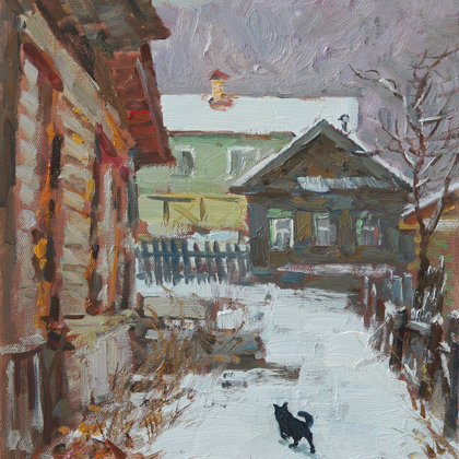 """Winter in Bakhilovaya Polyana"" 2014 oil on canvas 50x40cm - 450$"