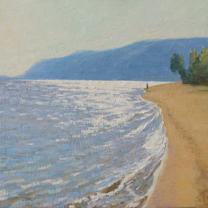 """Volga shores"" 2017 oil on canvas 60x90cm - 750$"