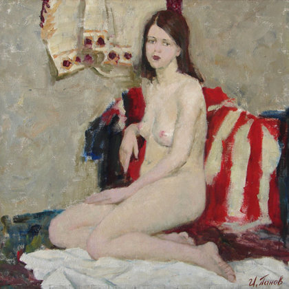 """Nude"" 1999 oil on canvas 72x76cm - Private collection, Russia"