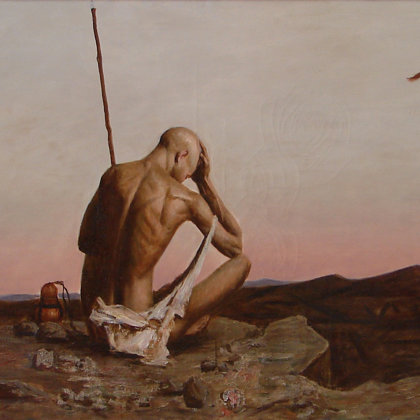 """""""Prodigal Son"""" 1999 oil on canvas 60x100cm - Private collection, South Korea"""