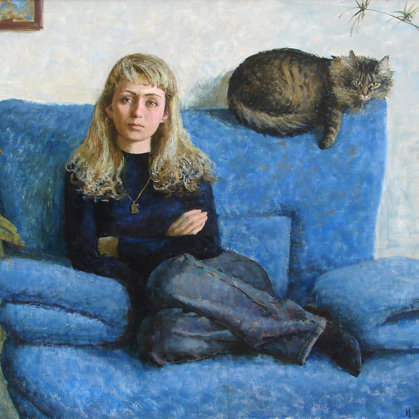 """Portrait of a sister"" 2005 oil on canvas 90x120cm - Private collection, Russia"
