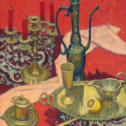 """Oriental still life with lemon"" 2003 oil on canvas 80x60cm - Private collection, Russia"