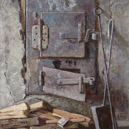 """Soon Bath"" 2011 oil on canvas 76x63cm - Private collection, Russia"