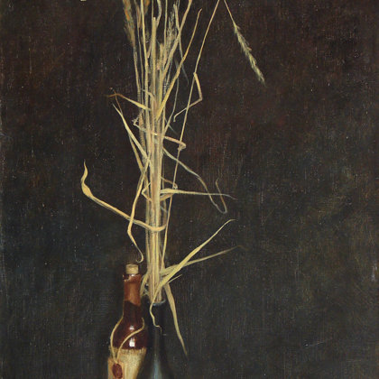 """Still life with walnuts"" 2001 oil on canvas 110x65cm - Private collection, China"