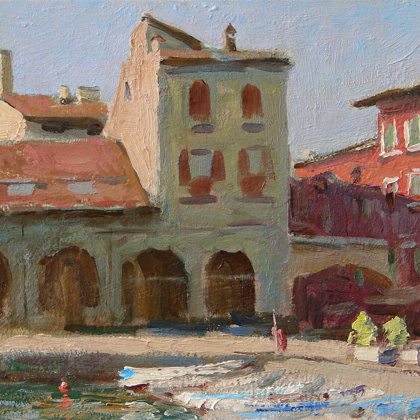 """Desenzaro. Italy"" 2011 oil on cardboard 20x30cm - Private collection, Russia"